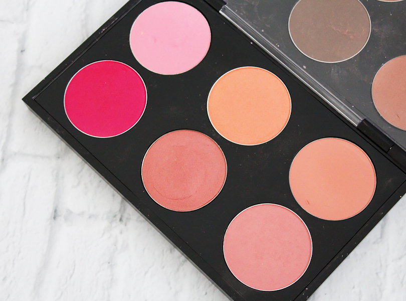 review swatches mac pro double blush palette sunbasque modern mandarin fleur power peachykeen