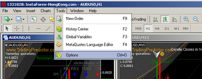 tools options binary options