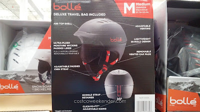 Bolle Alliance Hybrid Snowboard Helmet offers protection and insulation when skiing in the mountains