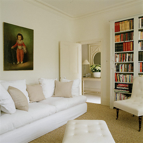 Classic Cream And White Living Room