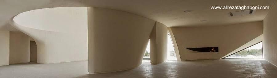 Vista del interior de la Villa Kouhsar de diseño ultramoderno en Irán