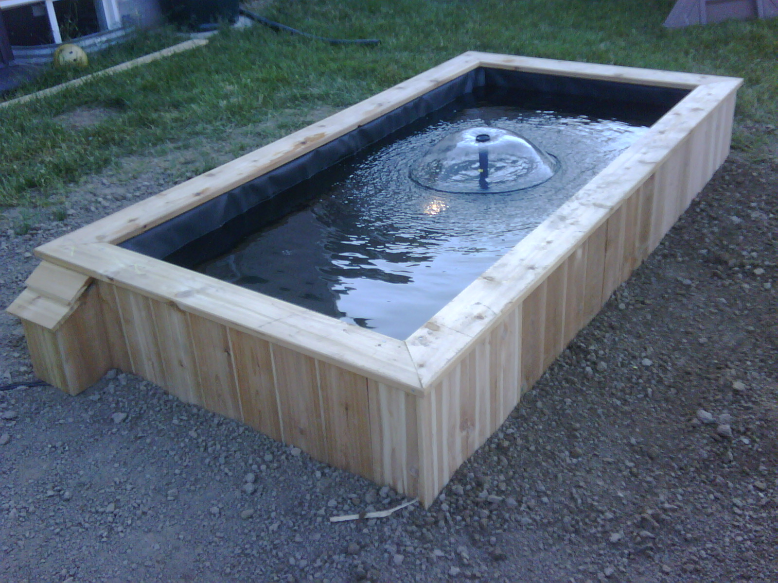 Fish my summer projects pond addition for Backyard pond depth