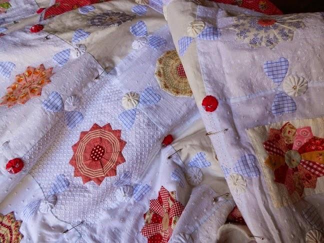 80 bloemetjes quilt van Supergoof