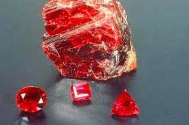 batu akik merah delima dan pecahan nya