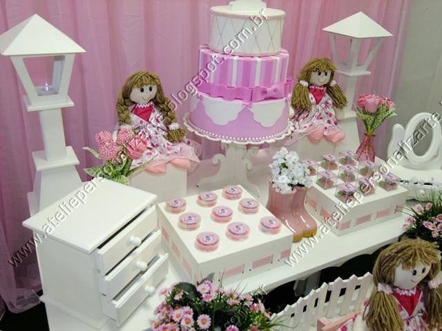 Marcadores Aniversários , Bonecas de Pano , Decoração de Festas
