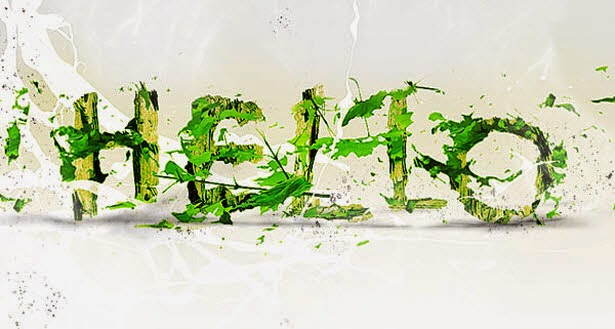CREATE LEAFY TEXT EFFECT IN PHOTOSHOP
