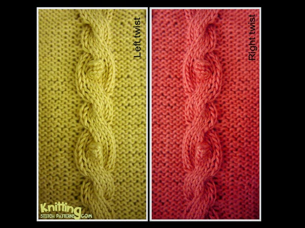 Bobbled Cable Knitting Stitch Patterns