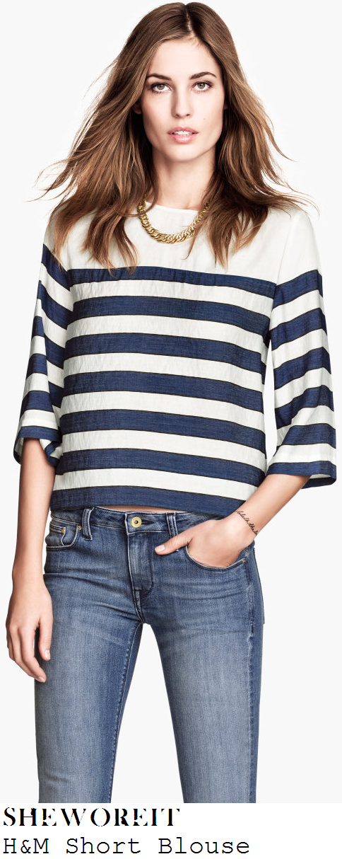 sam-faiers-navy-blue-and-white-breton-stripe-three-quarter-sleeve-top-glasgow
