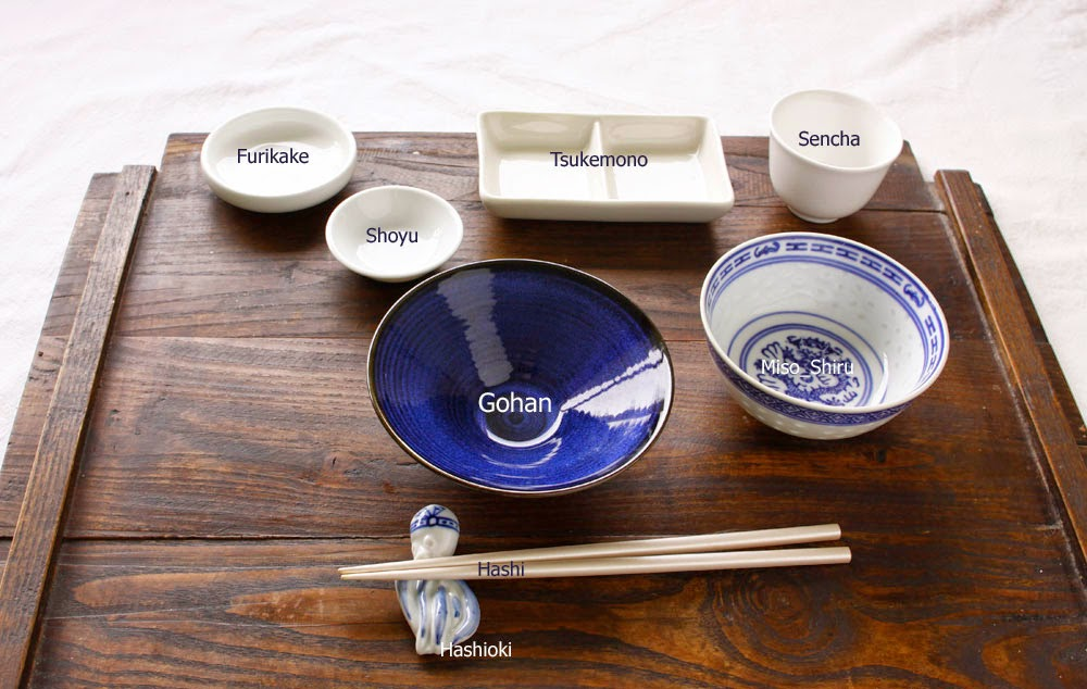 Japanese crockery settings