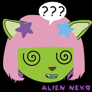 confused2 Alien neko emoji