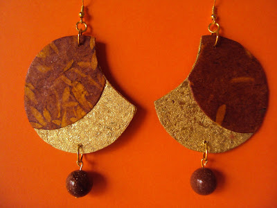 orecchini di carta handmade