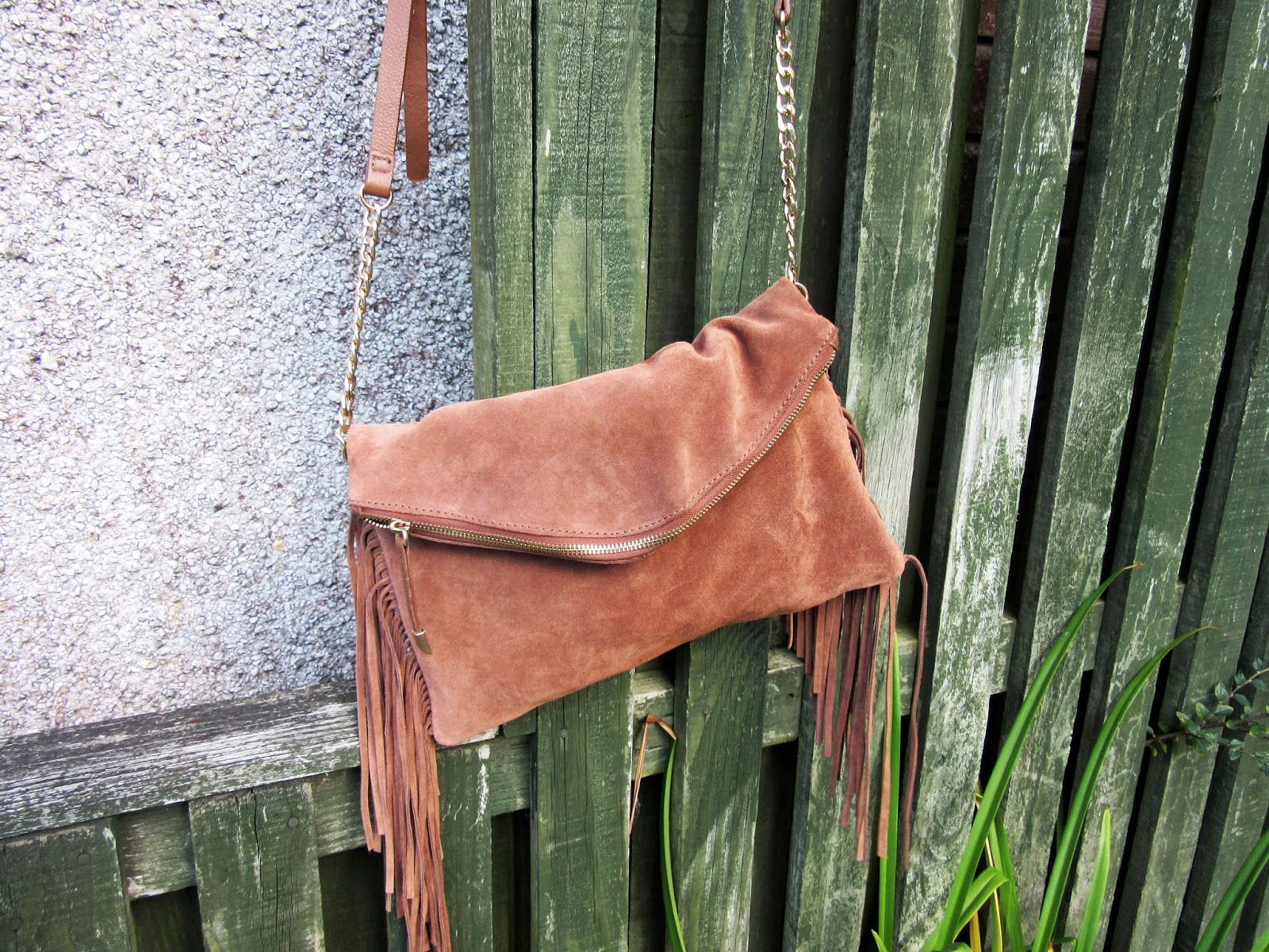 Accessorize Leather Tassle Bag