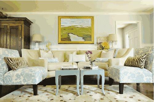 foto ruang tamu dengan gaya natural dan fresh