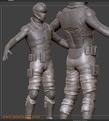 Pixologic ZBrush Mech Soldier WIP Sculpt