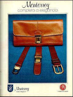 Anúncio cintos e pochete Ypu - 1978. Moda anos 70