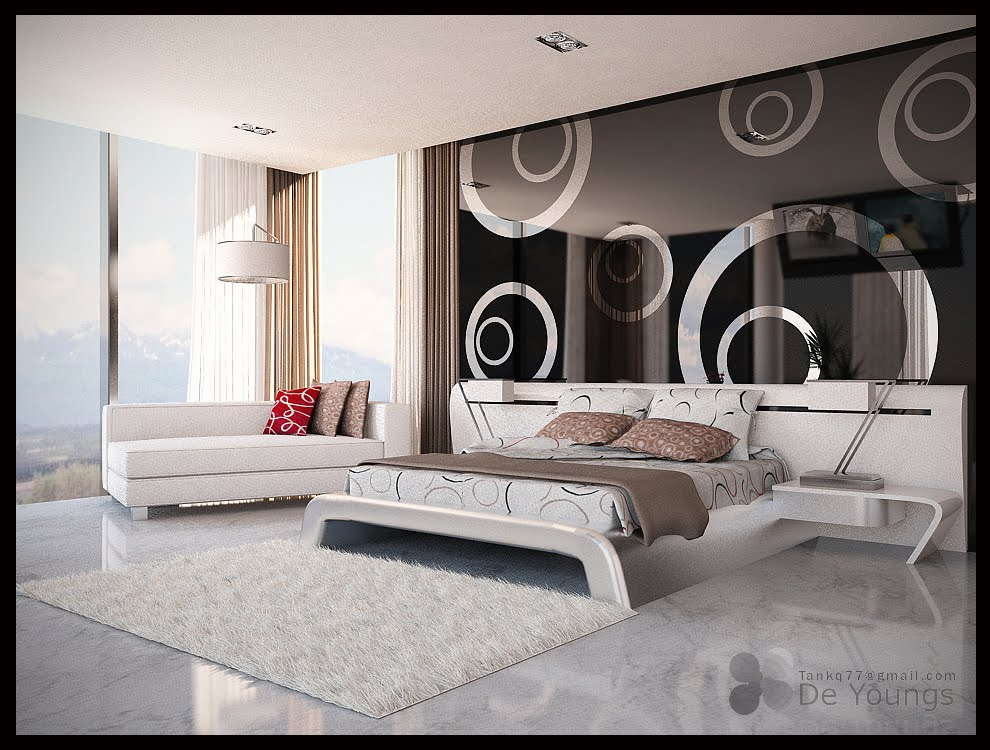 Interior design master bedroom for Interior bed design images