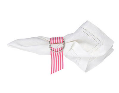 grosgrain ribbon napkin ring
