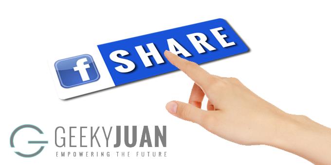 Independent Facebook Sharing button - Geeky Juan