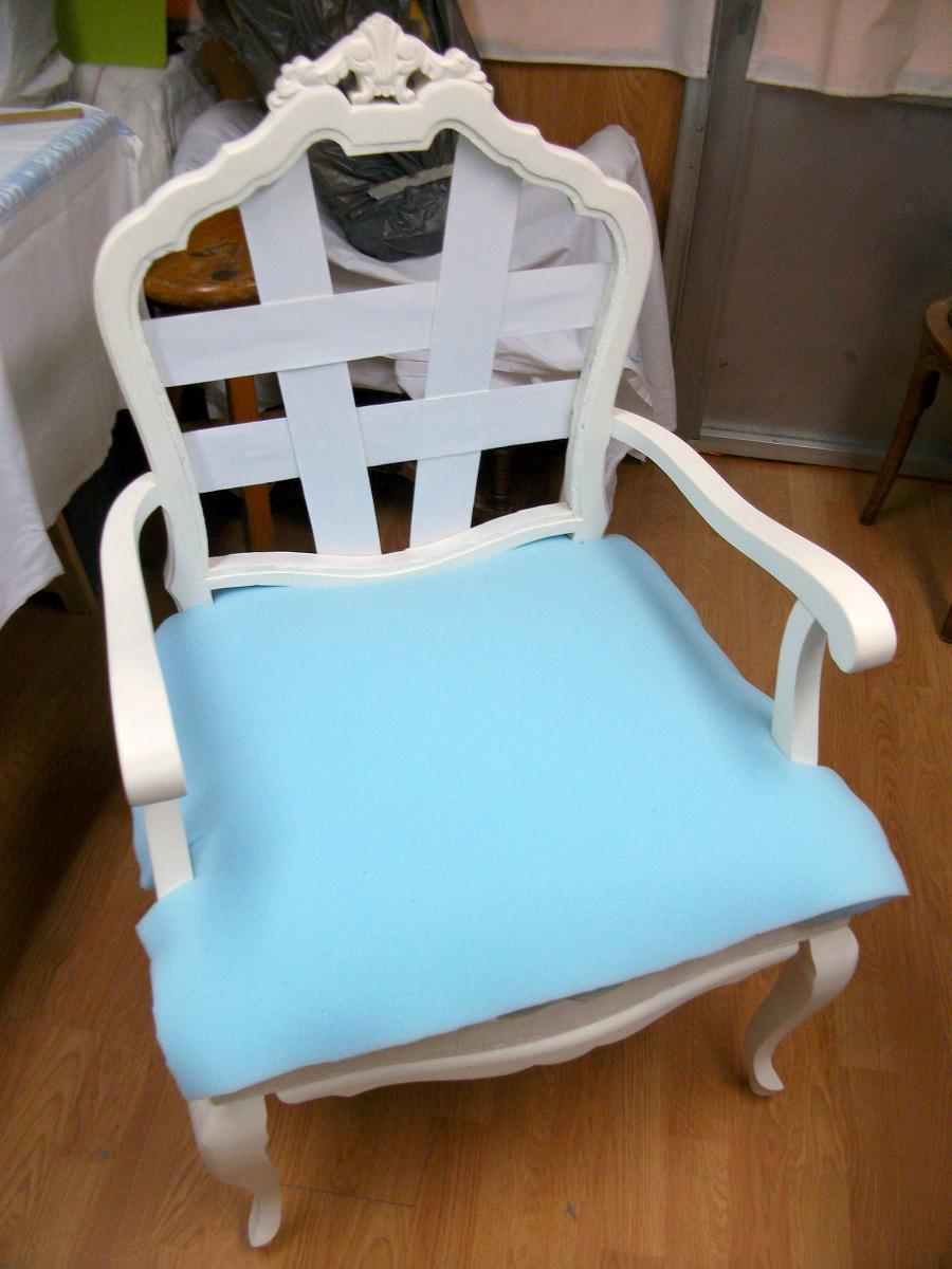 El blog de la restauradora tapizado de un sill n - Como tapizar un sillon ...