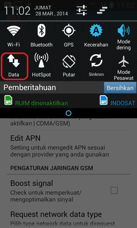 Cara Membuat SIM Card GSM Smartfren Andromax Sebagai Default Akses Data Internet 4