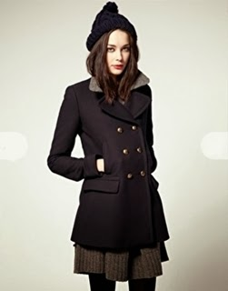 Perfect Womenu0026#39;s Pea Coat For Ladies Navy Wool Double Breasted Reefer Jacket UK - THE NAUTICAL COMPANY UK