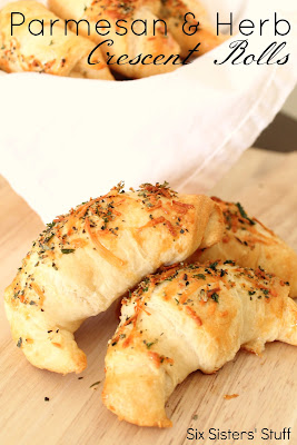 Parmesan & Herb Crescent Dinner Rolls