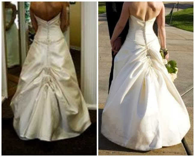 Austrian Bustle On A Wedding Gown