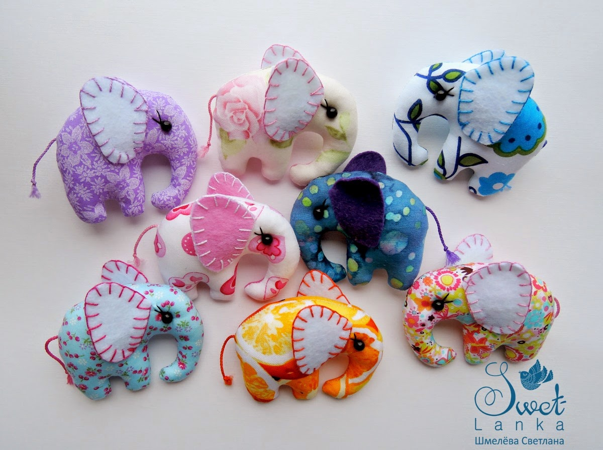 как сшить игрушку слоника из ткани