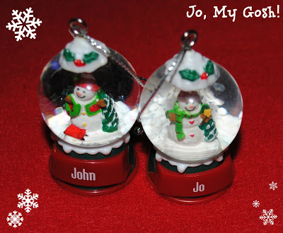 snow globe snowglobe christmas snowman john jo ornament tree