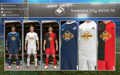 PES 2014 Swansea City 2014/15 GDB by Nemanja