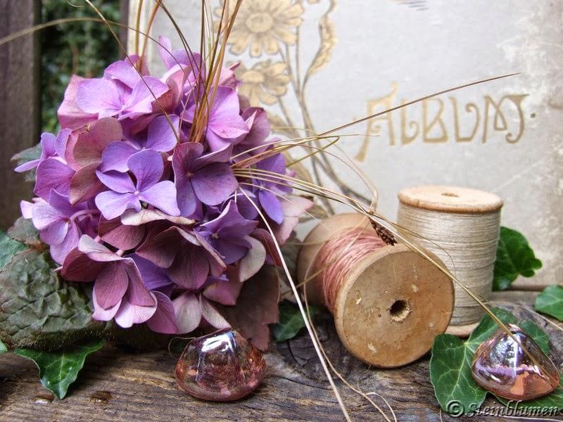 Blumendeko mit Hortensien