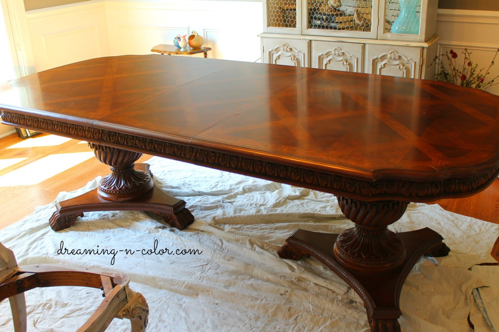 Dreamingincolor Carved Dining Table