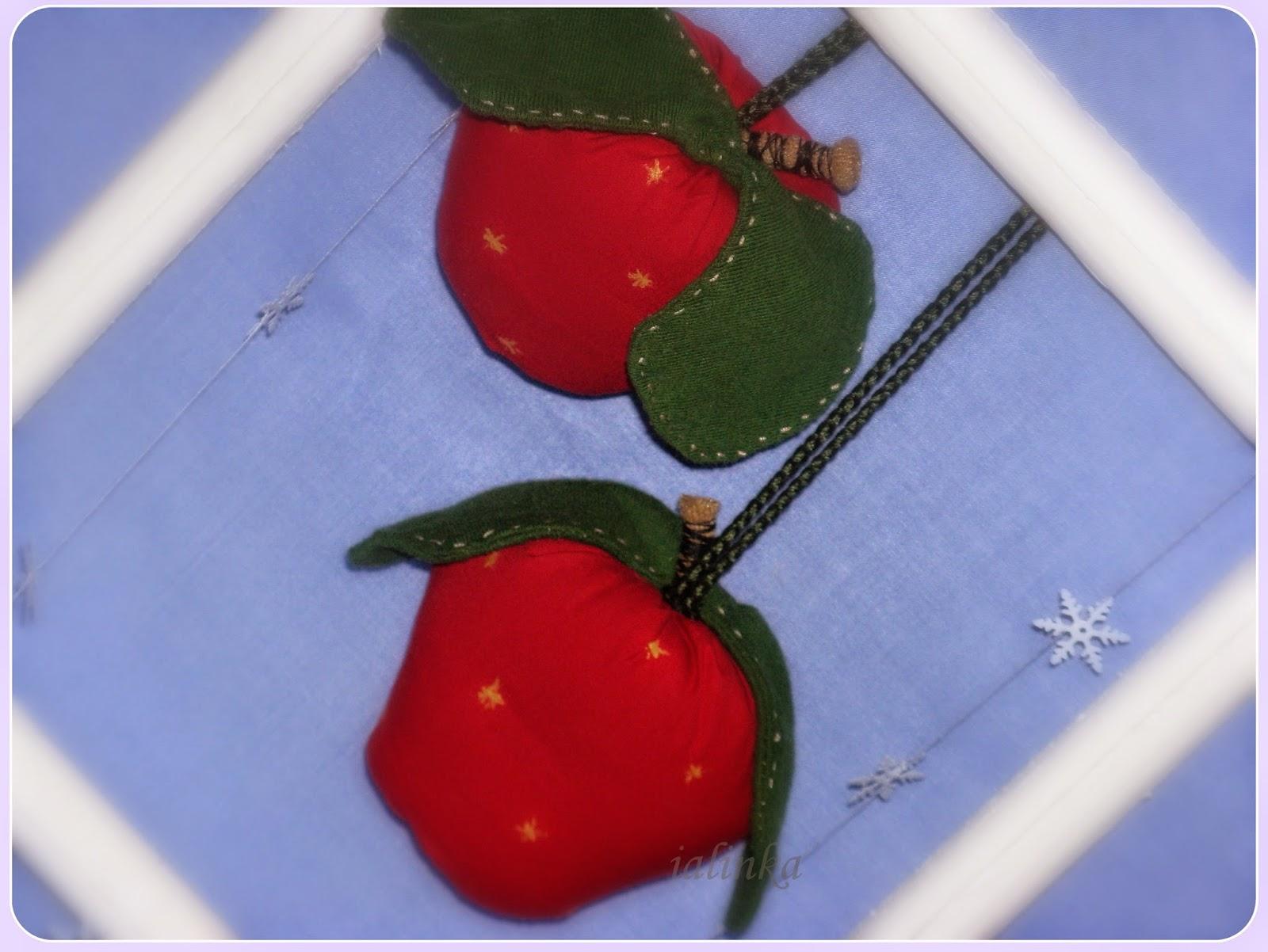 яблочки тильда елочные украшения своими руками