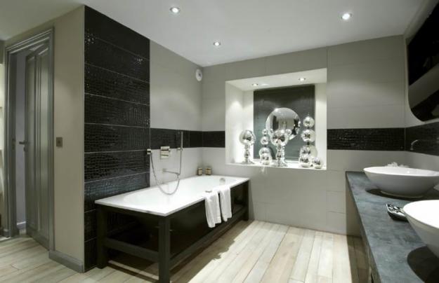 Bricolage e decora o ideias para casa de banho com pretos e cinzentos wc banheiro - Ambiance salle de bain carrelage ...