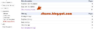 mengetahui duplikat konten pada webmaster tools google