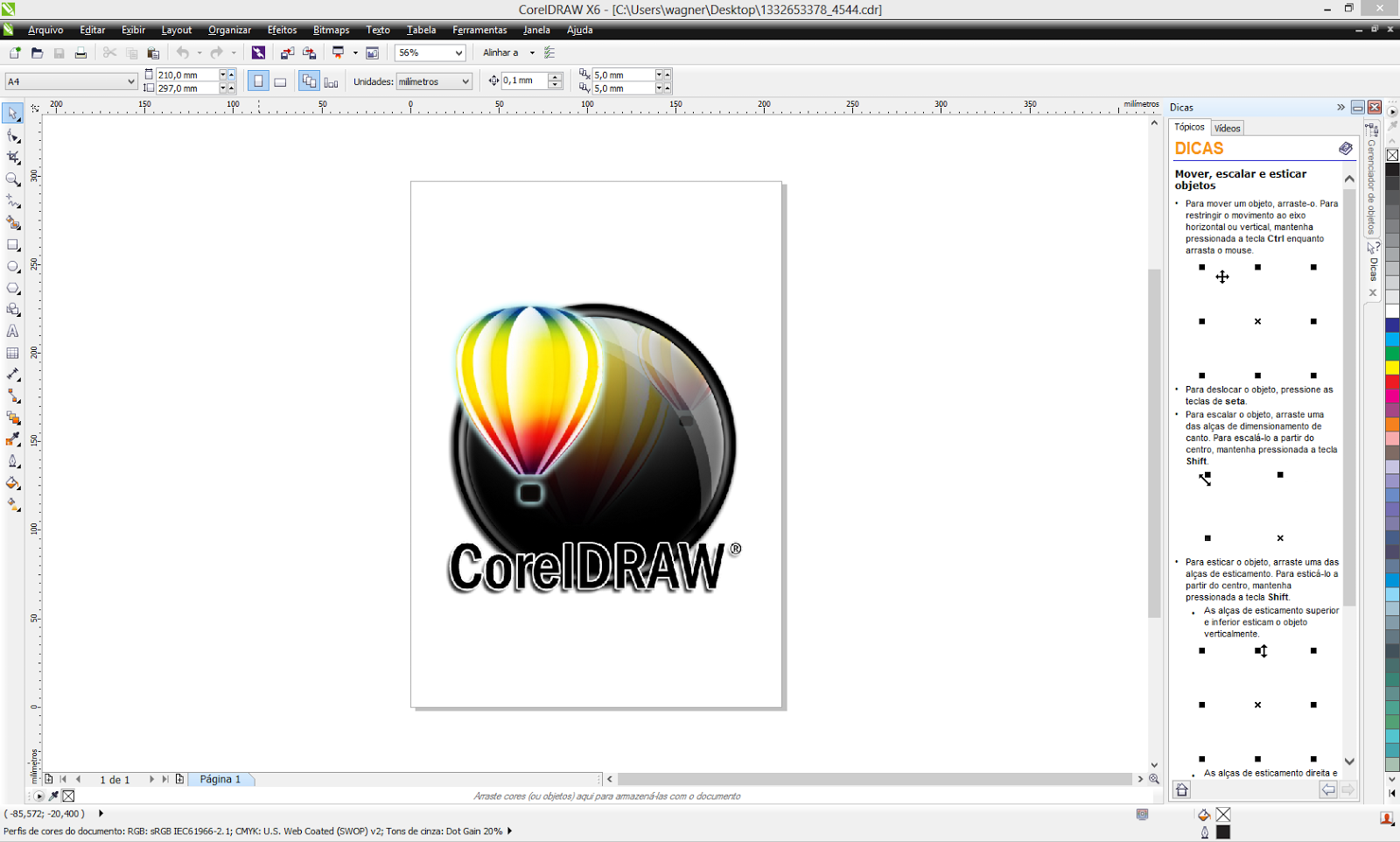 how to set margins in corel draw x6