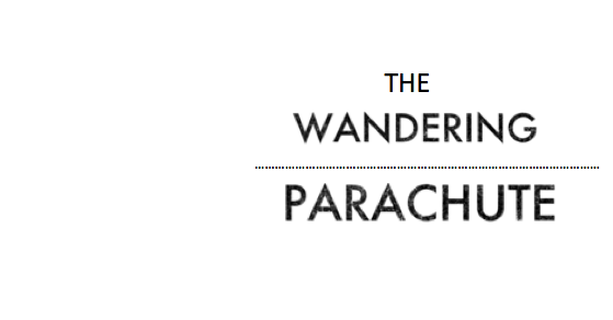 The wandering parachute