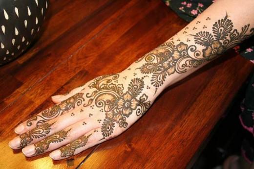 Full Arm Mehndi Designs : Latest easy arm mehndi 2013 desings