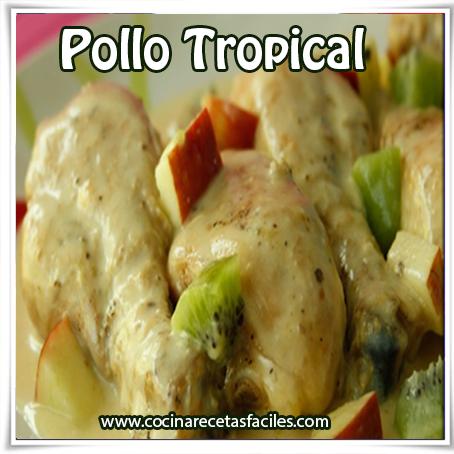 Recetas de pollo , receta de pollo tropical
