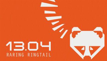 Ubuntu Linux 13.04 Raring Ringtail Logo