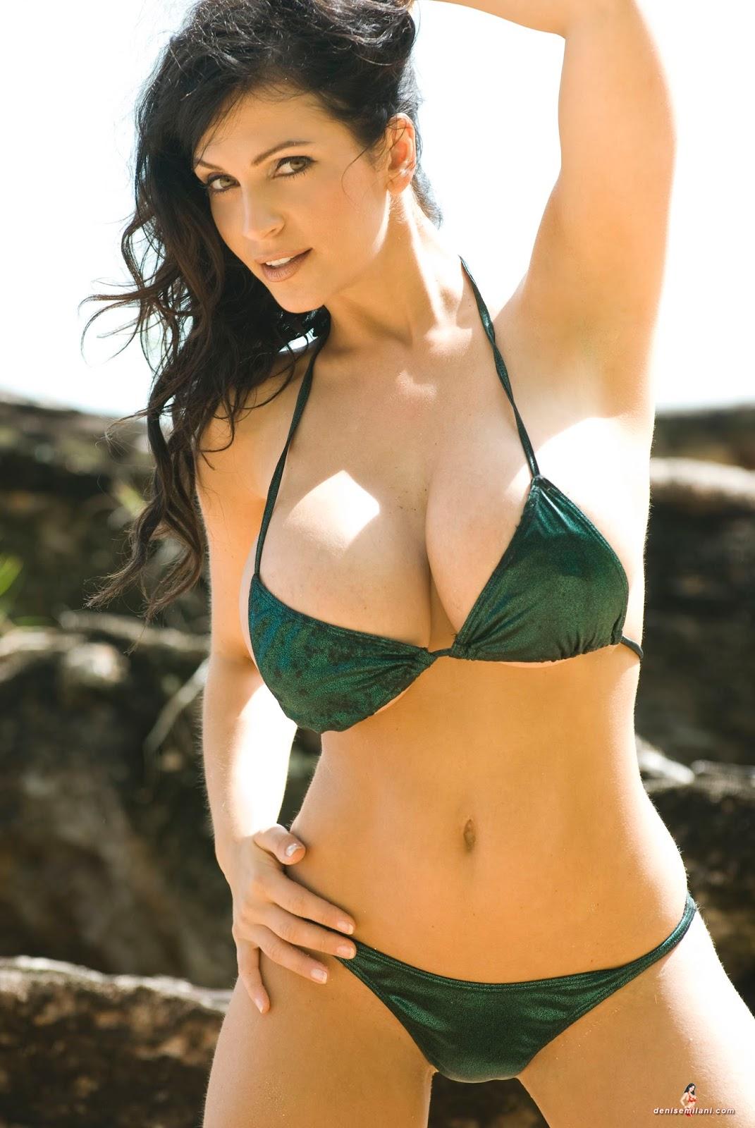 Denise milani green hawaii bikini