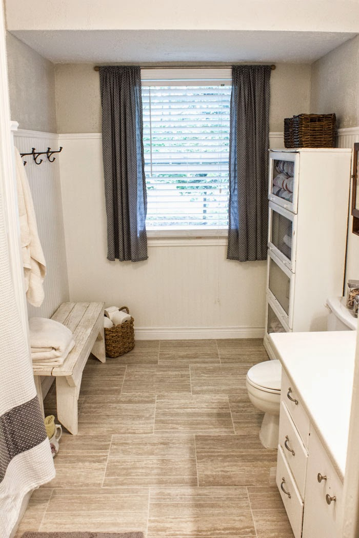 natural gray and white bathroom