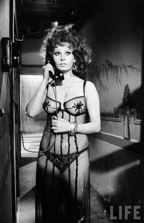 Sophia Loren in the Movie Marriage Italian Style - 1964