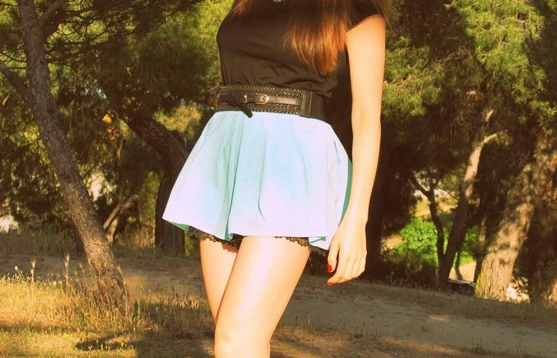 Falda pantalón aguamarina - Blog Lidia Bedman