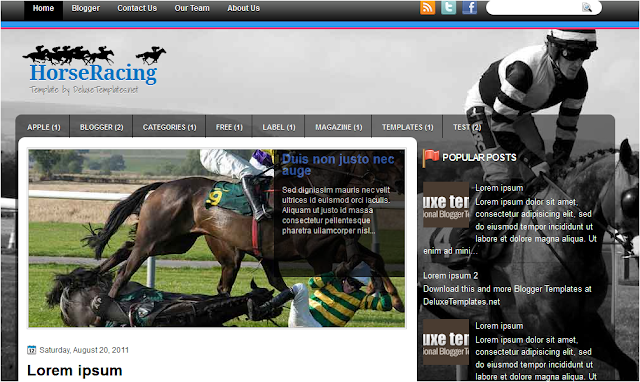 Horse Racing Blogger Template