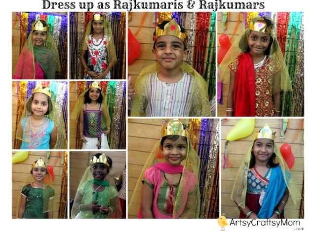 Indian mythological party dressup