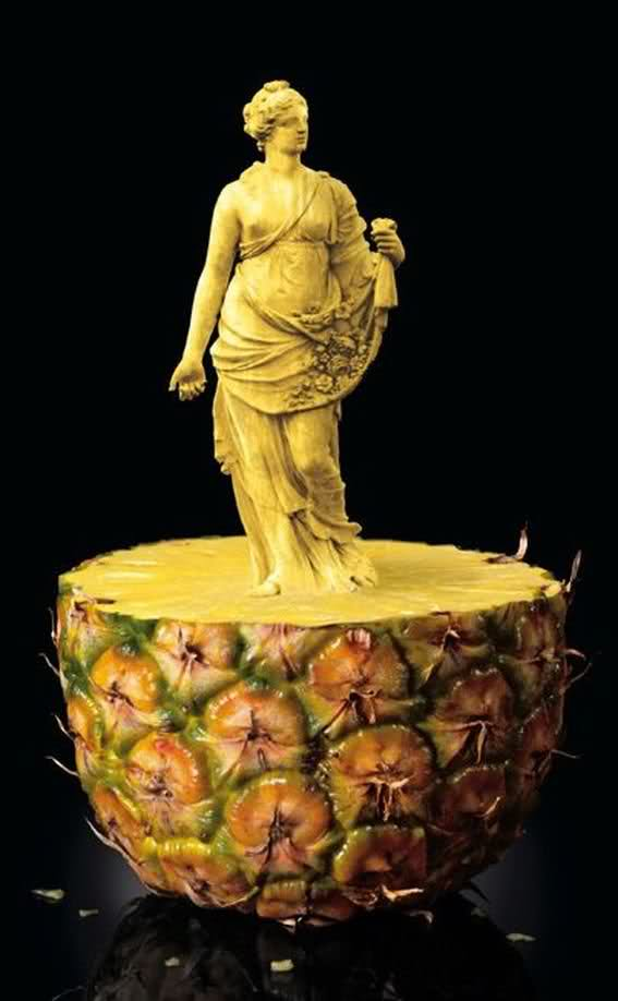Amazing fruit and vegetable carvings art arts