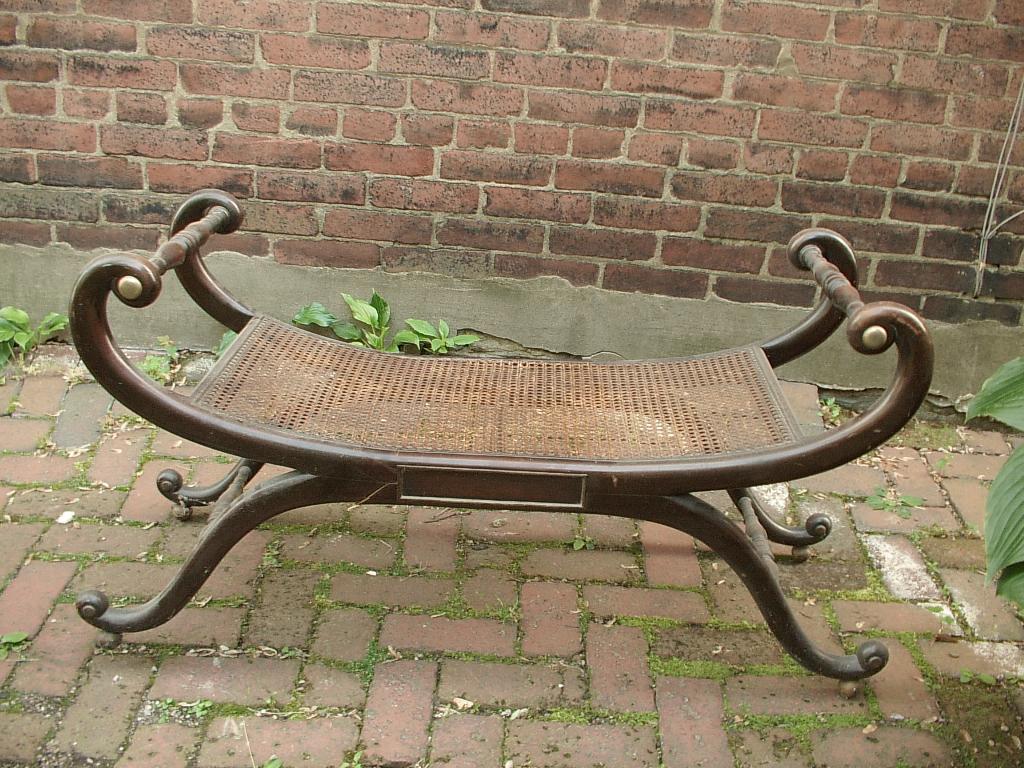 Shoponsherman Vintage Baker Furniture A Cane Bench Project