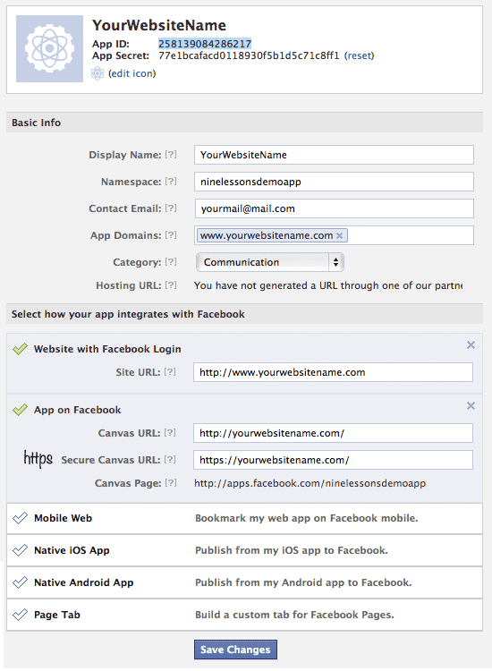 Facebook Invite Friends API