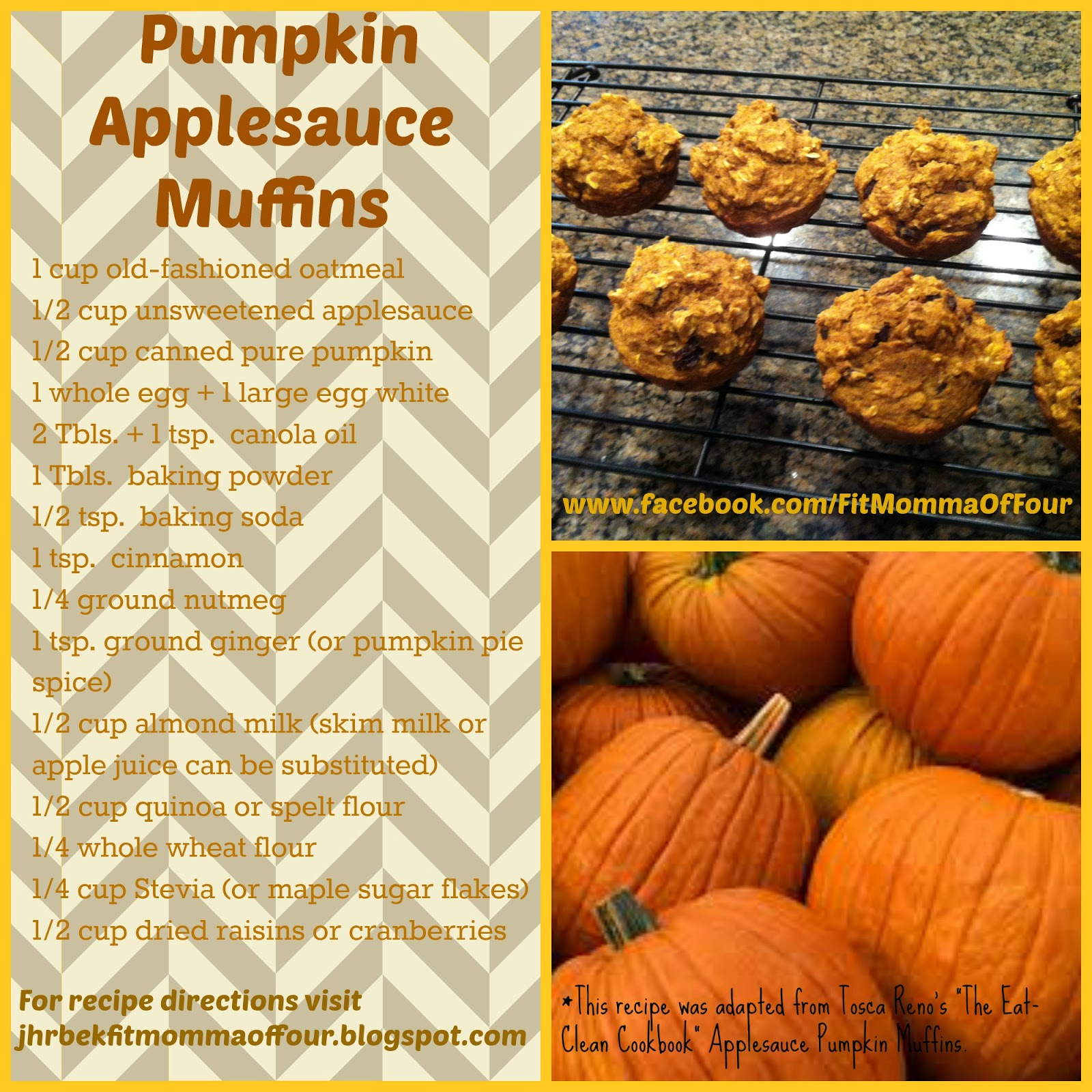Fit Momma of Four: Pumpkin Applesauce Muffins